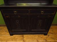 Art Nouveau Black Painted Sideboard Chiffonier Dresser with Mirrored Top, Gothic (9 of 19)