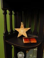 Art Nouveau Black Painted Sideboard Chiffonier Dresser with Mirrored Top, Gothic (12 of 19)