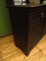 Art Nouveau Black Painted Sideboard Chiffonier Dresser with Mirrored Top, Gothic (16 of 19)