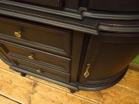 Painted Black Bow Fronted Glazed Display Cabinet Dresser (8 of 16)