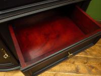 Painted Black Bow Fronted Glazed Display Cabinet Dresser (12 of 16)