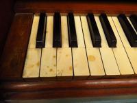 Antique Painted Blue Harmonium Pump Organ, the 'Barmonium' Bar or Console Table (7 of 18)