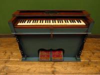Antique Painted Blue Harmonium Pump Organ, the 'Barmonium' Bar or Console Table (3 of 18)