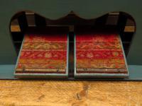 Antique Painted Blue Harmonium Pump Organ, the 'Barmonium' Bar or Console Table (4 of 18)