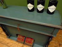 Antique Painted Blue Harmonium Pump Organ, the 'Barmonium' Bar or Console Table (16 of 18)