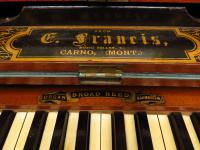 Antique Painted Blue Harmonium Pump Organ, the 'Barmonium' Bar or Console Table (6 of 18)