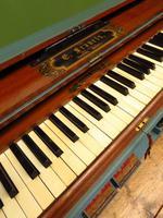 Antique Painted Blue Harmonium Pump Organ, the 'Barmonium' Bar or Console Table (8 of 18)