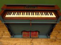 Antique Painted Blue Harmonium Pump Organ, the 'Barmonium' Bar or Console Table (5 of 18)