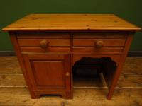 Small Antique Early 20th Century Pine Desk, Small Cottage Desk (3 of 17)