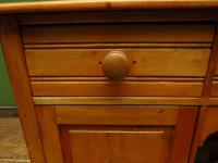 Small Antique Early 20th Century Pine Desk, Small Cottage Desk (5 of 17)