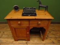 Small Antique Early 20th Century Pine Desk, Small Cottage Desk (16 of 17)