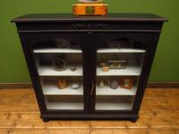 Painted Black Display Cabinet Bookcase, Adjustable Shelves, Lockable, Gothic (13 of 16)