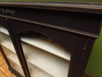 Painted Black Display Cabinet Bookcase, Adjustable Shelves, Lockable, Gothic (16 of 16)