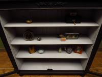 Painted Black Display Cabinet Bookcase, Adjustable Shelves, Lockable, Gothic (15 of 16)