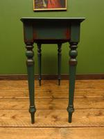 Antique Painted Green Console Table, Bohemian Shabby Chic (6 of 9)