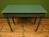 Antique Painted Green Console Table, Bohemian Shabby Chic (2 of 9)