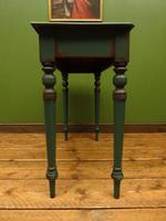 Antique Painted Green Console Table, Bohemian Shabby Chic (9 of 9)