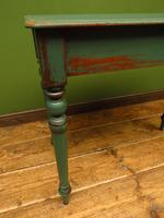 Antique Painted Green Console Table, Bohemian Shabby Chic (4 of 9)