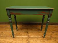 Antique Painted Green Console Table, Bohemian Shabby Chic (5 of 9)