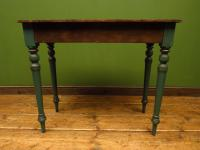 Antique Painted Green Console Table, Bohemian Shabby Chic (8 of 9)