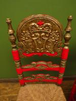 Pair of Vintage Painted Bohemian Chairs (5 of 14)