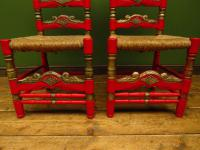 Pair of Vintage Painted Bohemian Chairs (8 of 14)