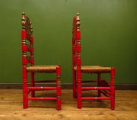 Pair of Vintage Painted Bohemian Chairs (9 of 14)