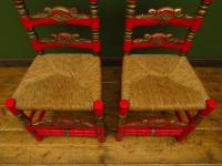 Pair of Vintage Painted Bohemian Chairs (2 of 14)