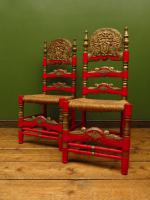 Pair of Vintage Painted Bohemian Chairs (12 of 14)