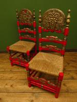 Pair of Vintage Painted Bohemian Chairs (13 of 14)