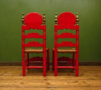 Pair of Vintage Painted Bohemian Chairs (10 of 14)