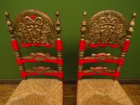 Pair of Vintage Painted Bohemian Chairs (3 of 14)