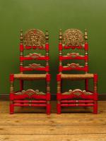 Pair of Vintage Painted Bohemian Chairs (7 of 14)