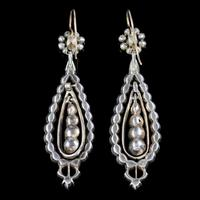 Antique Georgian Portuguese Crystal Drop Earrings Silver 18ct Gold c.1820 (6 of 6)