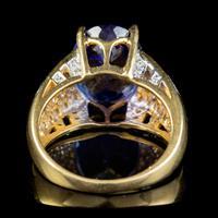 Vintage Tanzanite Diamond Ring 7.50ct Tanzanite 18ct Gold (2 of 6)