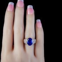 Vintage Tanzanite Diamond Ring 7.50ct Tanzanite 18ct Gold (4 of 6)