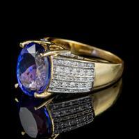 Vintage Tanzanite Diamond Ring 7.50ct Tanzanite 18ct Gold (3 of 6)
