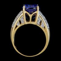 Vintage Tanzanite Diamond Ring 7.50ct Tanzanite 18ct Gold (6 of 6)