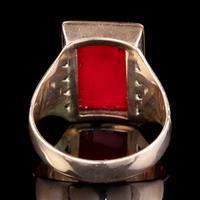 Memento Mori Enamel Skeleton Ring Antique Mount 9ct Gold (2 of 6)