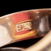 Memento Mori Enamel Skeleton Ring Antique Mount 9ct Gold (5 of 6)
