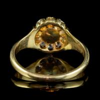 Antique Victorian Pearl Diamond Cluster Ring 18ct Gold c.1890 (2 of 5)