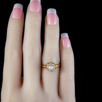 Antique Victorian Pearl Diamond Cluster Ring 18ct Gold c.1890 (3 of 5)