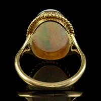 Vintage Opal Ring 18ct Gold Natural 8ct Opal c.1980 (2 of 6)