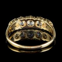 Antique Victorian Diamond Five Stone Ring 1ct Old Cut Diamonds 15ct Gold c.1890 (2 of 6)
