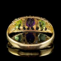 Antique Suffragette Ring Amethyst Peridot Diamond 15ct Gold c.1910 (2 of 5)