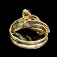 Antique Edwardian Diamond Snake Ring 18ct Gold c.1905 (2 of 5)