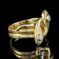 Antique Edwardian Diamond Snake Ring 18ct Gold c.1905 (4 of 5)
