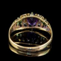 Antique Edwardian Suffragette Ring 18ct Gold Amethyst Diamond Peridot Dated 1903 (2 of 6)