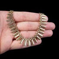 Vintage Cleopatra Fringe Necklace 9ct Gold Dated 1966 (3 of 6)