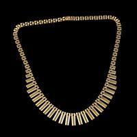 Vintage Cleopatra Fringe Necklace 9ct Gold Dated 1966 (5 of 6)